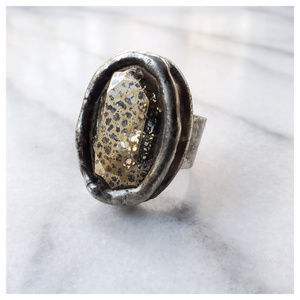 Free People Swarovski Monarch Ring Vintage Mirror